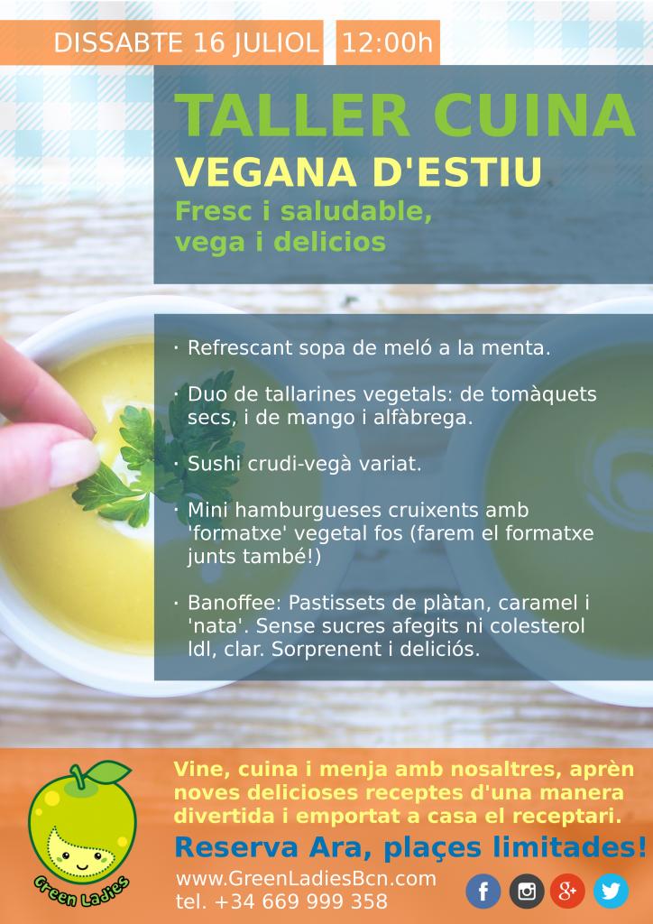 Clase de Cuina Vegana Barcelona